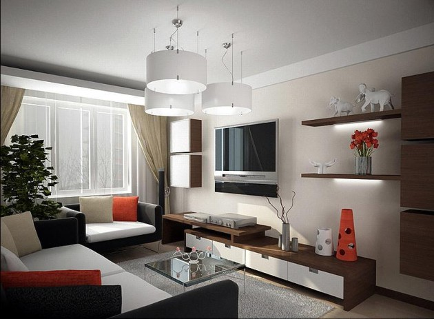 Фото интерьера для однокомнатной квартиры хрущевки